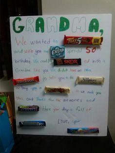 Candy Bar Birthday Card Candy Birthday Cards, Birthday Party Snacks, Birthday Cards For Mom, Birthday Poems, 50th Birthday, Birthday Gifts, Grandpa Birthday, Birthday Board, Happy Birthday