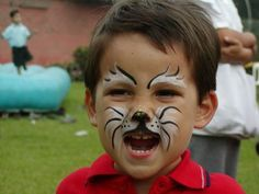 Face Painting For Boys, Baby Painting, Face Painting Designs, Wolf Face, Cat Face, Halloween Makeup, Halloween Face, Costume Halloween, Wolf Makeup