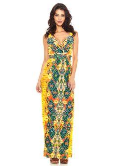 ECI Shirred Waist Maxi Dress