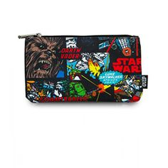 Star Wars Comic Panel Print Coin / Cosmetic / Pencil Bag by Loungefly