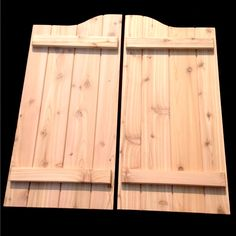 Custom Swinging Cedar V-Groove Cafe Saloon Doors Wooden Western