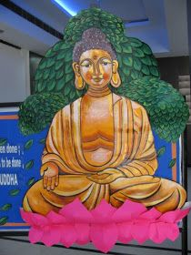 Art ,Craft ideas and bulletin boards for elementary schools: Buddha Bulletin Board Bulletin Board Design, Bulletin Boards, Board Decoration, Simple Art, Creative Kids, School Projects, Classroom Decor, Art Boards, Elementary Schools