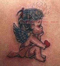 Angel And Cherub Tattoos...super cute ! Almost like the one i want.