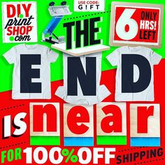 Ends at Midnight !  FREE Shipping on everything! DIYprintShop.com #holidaysale #diychristmas
