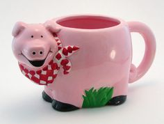 Papel Piggy-Shaped Piggy Mug