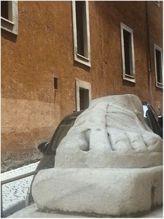 Big marble foot in Rome, all that remains of an enormous, ancient statue. It's on, appropriately enough, Marble Foot Street (Via del Piè di Marmo).