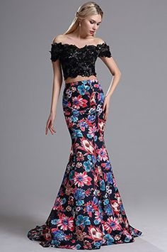 eDressit Two-piece Lace Bodice Mermaid Skirt Prom Dress(02164468) - USD 199.99