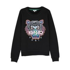 About KENZO Tiger-embroidered Cotton Sweatshirt dapThis sweatshirt is Made To Order, we print the sweatshirt one by one so we can control the quality. Ralph Lauren Fleece, Embroidered Sweatshirts, Sweater Outfits, Sweaters For Women, Hoodies, Clothes, Cotton, Spring Style, Shirts