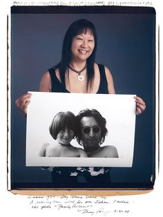 "May Pang: Summer 1974 Long Island Sound NY. A relaxing time with his son Julian. I called this photo ""Family Portrait"""