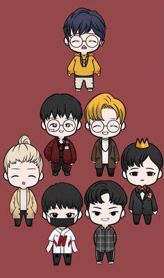 Kim Jinhwan, Ikon Junhoe, Ikon Kpop, Hanbin, Ikon Wallpaper, Emoji Wallpaper, Yg Groups, Baby Girl Drawing, Bobby