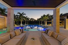 Beautiful pool accented with Trend #granite and #mosaic #tiles