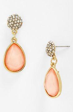 pretty stone drop earrings