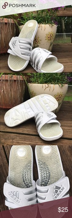 156aad39842af0 Adidas Slides women s Size 8 Lightly worn Adidas Slides. Adidas Shoes  Athletic Shoes Adidas Slides