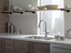 Add a charm and unique touch to your kitchen by Wall-mount kitchen faucet