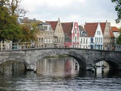 Brugges, Belgium.  I remember this as the most adorable, ancient little town I've ever been in. I really want to revisit someday.