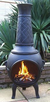 Buy The 53 Inch Basketweave Cast Iron Chiminea Online From The Largest  Range Of Cast Iron