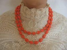 Vintage Sarah Coventry Orange Beads