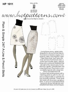 HP 1011 Plain & Simple 24/7 A-Line & Pencil Skirts - HotPatterns