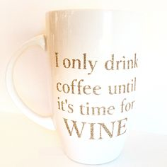 This coffee mug was shipped out today for a coffee drinking wine lover.  Do you have a coffee and wine obsession or know someone who does?  This coffee mug makes a great gift! ☕️
