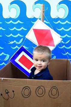 "Sailor/Nautical party w/ cute ""photo op"" in box/ship"