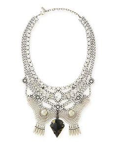 Emma Crystal Bib Necklace by Dannijo at Neiman Marcus.