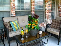 Small Patio Ideas On A Budget | After : New patio furniture.
