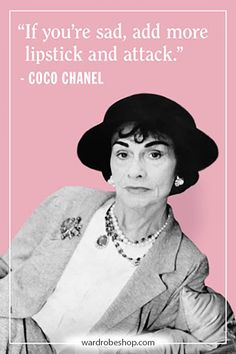 Coco Chanel famously lived her life according to her own rules. Her musings on elegance, love, and life are as timeless as her classic Chanel designs. Take a look at the founder of Chanel's most memorable, inspiring, and outspoken quotes here. Estilo Coco Chanel, Coco Chanel Style, Coco Chanel Fashion, Great Quotes, Inspirational Quotes, Motivational, Chanel 19, Chanel Bags, Chanel Handbags