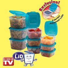 Mr. Lid 10 Piece Attached Lid Plastic... $12.20 #topseller
