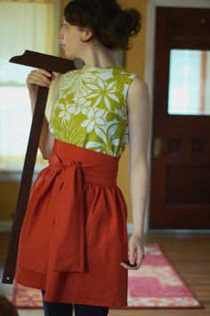 obi apron with pattern and instructions