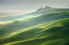 Photo Farm on the misty hills by Marcin Sobas on 500px