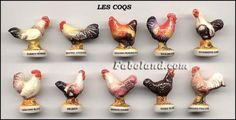 rooster feves for Fete des Rois, January 6th