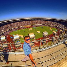 On the roof top of the Harare National Sports stadium in Zimbabwe packed with 82,409 in attendance for the international convention. Photo shared by @colealderman Thank you. Submit