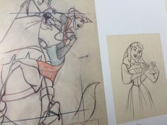 Check out the individual animation drawings from Walt Disney's Sleeping Beauty. You'll not find a poor drawing in the bunch. Disney Dream, Disney Love, Disney Magic, Disney Concept Art, Disney Fan Art, Disney Artwork, Disney Sketches, Disney Drawings, Studio Ghibli