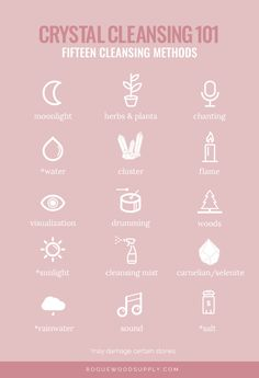 CRYSTAL CLEANSING 101: A comprehensive guide to cleansing your crystals | Rogue Wood Supply