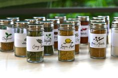 DIY: Spice Rack!! My latest project. Absolutely in love with my spice jars & labels designed by Esther Kao.