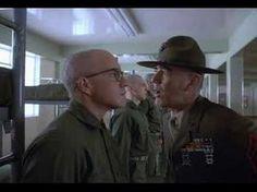 Full Metal Jacket - Sargeant initimidates each recruit in turn, testing their mettle.
