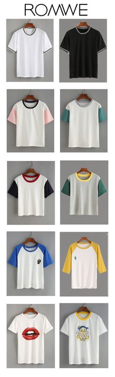 It's too hard to choose one top from those cute ones. Women's fshion Color block tops at romwe come from US$6.99.