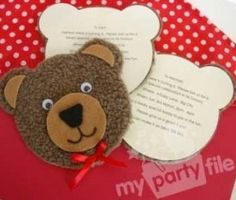 Teddy Bear's Picnic invites. Kidfolio - the app for parents - kidfol.io