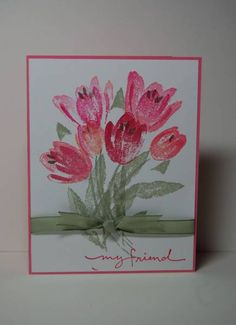 Spring Tulips - Cards and Paper Crafts at Splitcoaststampers