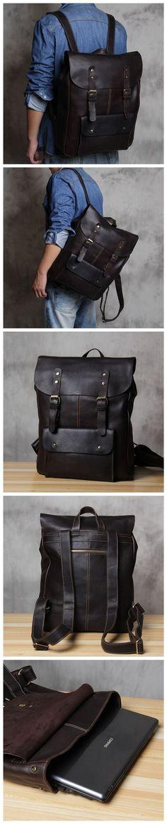 handmadecraft Vintage Bag Leather Handmade Vintage Style Backpack/College Bag