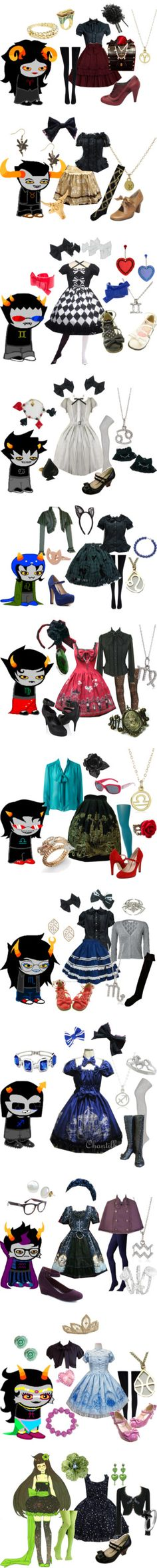 """Homestuck Lolitas"" by meiki ❤ liked on Polyvore"