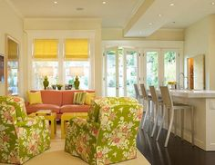 light and airy! love the roman shades