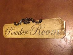 Hand Painted Powder Room Sign By SimplyArtisticStyle On Etsy