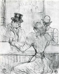 Henri de Toulouse-LautrecAt the Bar Picton, Rue Scribe 1896