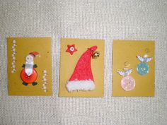 Christmas handmade mini cards 1,50 €