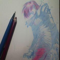 Iori  #desenho #sketch #sketchbook #thekingoffighters #iori #blue #red #instaart #instaartist #artist #art #anime #instaanime #fatalfury #draw #drawing #artwork #pencils #arts_gallery