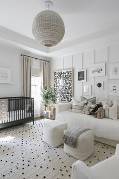 Baby Room Design, Nursery Design, Design Girl, Nursery Modern, Modern Nurseries, Neutral Nurseries, Nursery Ideas Neutral, Baby Bedroom Ideas Neutral, Luxury Nursery