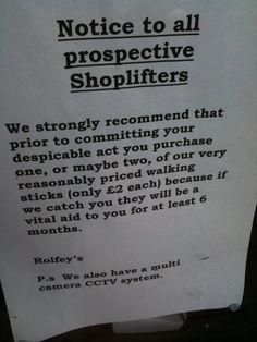 No stealing allowed in Bristol.