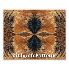 This intricately detailed photo print features an abstract symmetrical pattern of brown and navy blue exotic chicken feathers creating what looks like a tribal design. http://www.zazzle.com/brown_chicken_feathers_abstract_pattern_photo_print-190587485595277891?rf=238083504576446517&tc=20160927_pint_SSoZ #abstract #art #StudioDalio