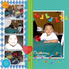Family Album 2006: Christmas Dinner layout by Tina Shaw | Pixel Scrapper digital scrapbooking